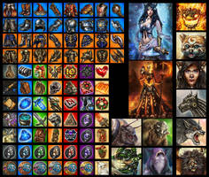 My icons, avatars and individual images