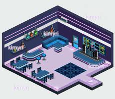 Pixel club mockup by Kimyri