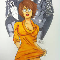 Velma Dinkley pinup by Steve-in-the-Ink