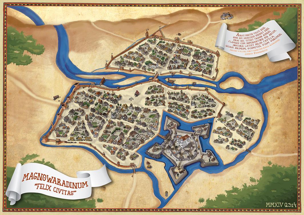 NagyvaraOradea Middle Ages Fantasy Map By Qpiii On DeviantArt - Oradea map