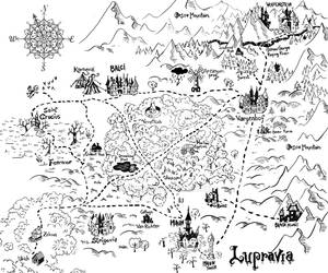 Fighting Fantasy - Howl of the werewolf - map