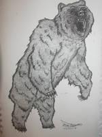 Dotwork Bear by hairosebear