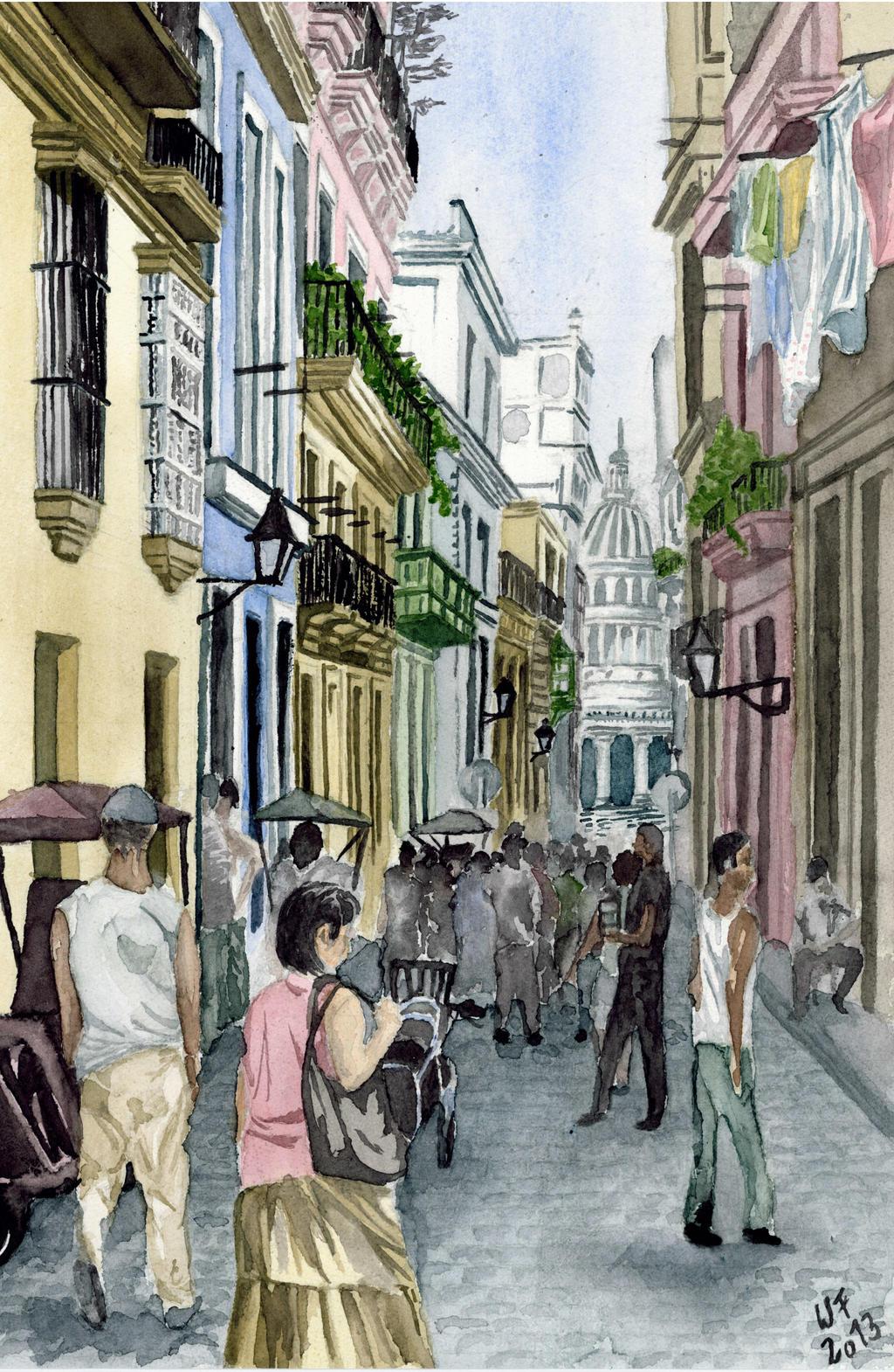 Havana Streets by Dulliros
