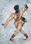 Moresca Dancers - 1  The Blackamoor