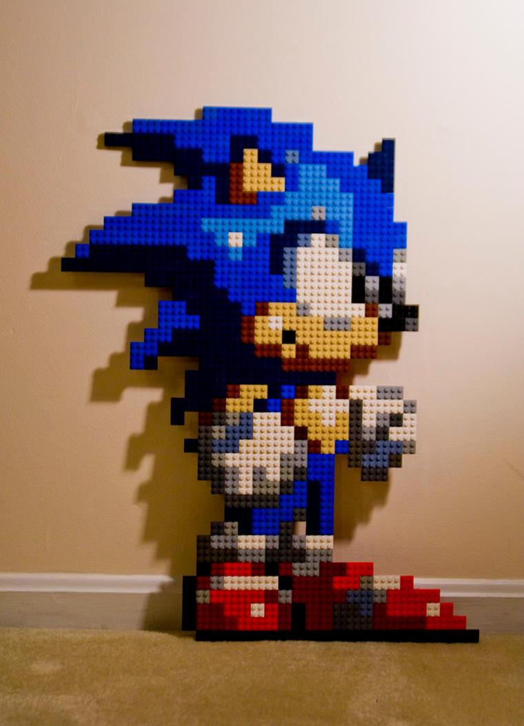 Sonic 2x2 Lego Pixel Sprite by Technomancer-Prime