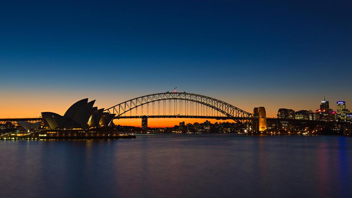 Sydney opera house and harbour bridge - Sydney Opera House And Harbour Bridge 01 By Shiroang