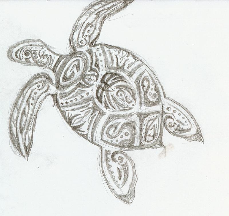 Tribal Turtle Drawings tribal turtle by Tadpo...