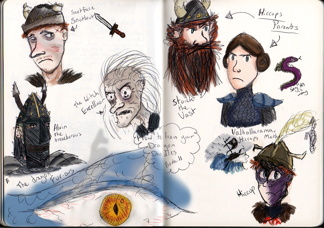 How To Train Your Dragon (book) Doodles :) By Paintsplatkat
