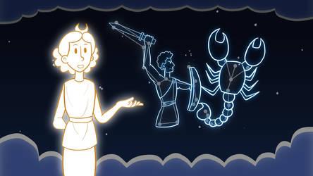 [Animation] Orion and Scorpio by PaintSplatKat