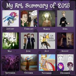 My Art of 2018 by PaintSplatKat
