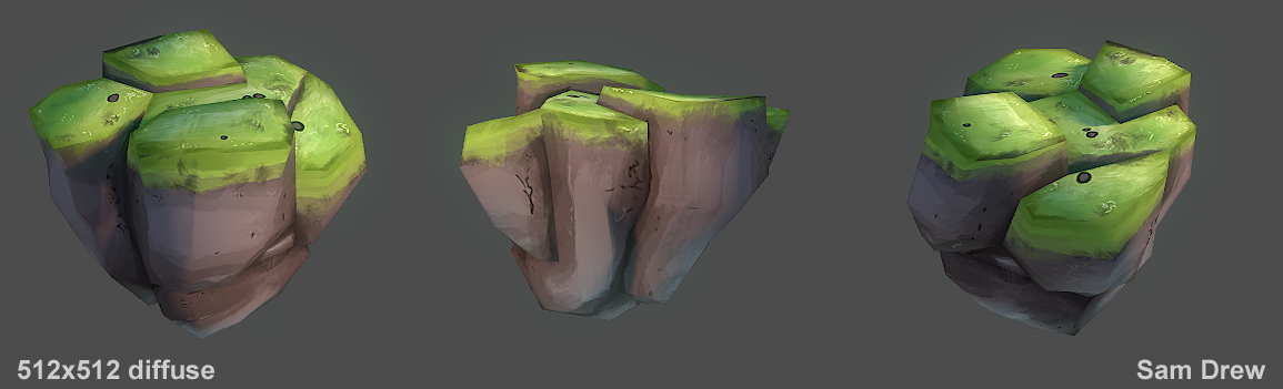 Hand painted texturing test by samdrewpictures