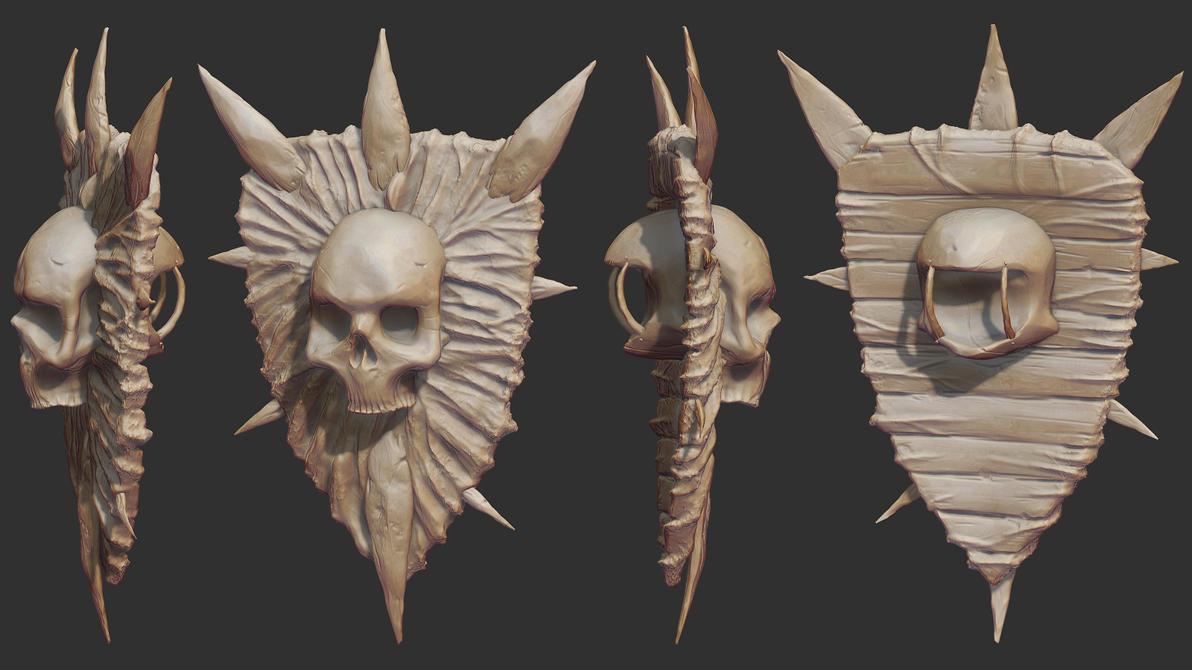 Fleshy Shield Sculpt by samdrewpictures