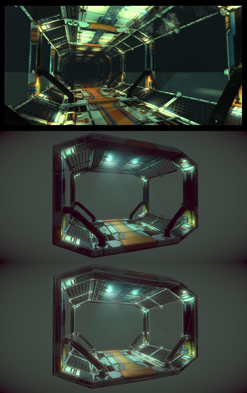 Sci-Fi Corridor by samdrewpictures