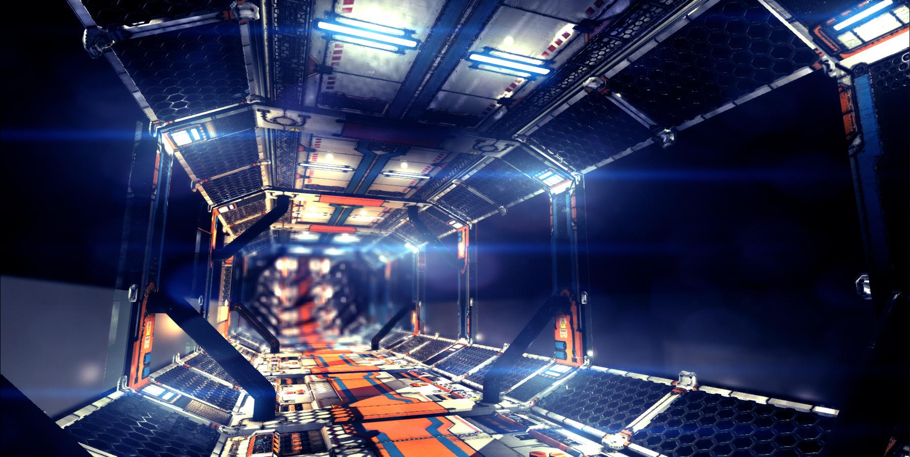 Sci Fi Corridor v2 by samdrewpictures