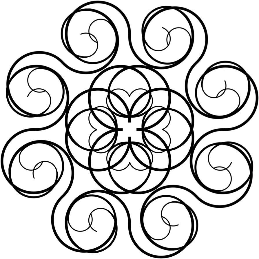 Symmetry In Design 2d design-escape from black square:symmetryrainbowdogma on