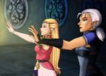 Zelda and Impa OoT