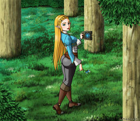 Zelda in the forest