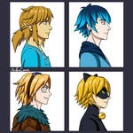 Link, Luka, Ezreal and Catnoir