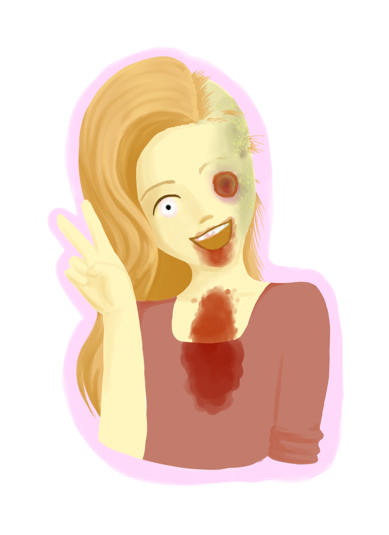 Guro Challenge Day 1: Facial Horror by coloredtoxins