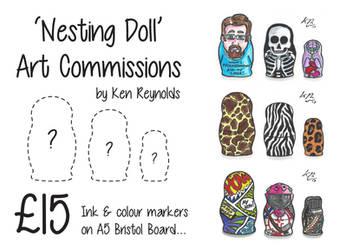 Nesting Doll Art Commissions by KenReynoldsDesign