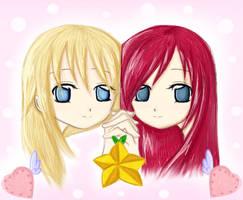 Namine and Kairi by Minnietta