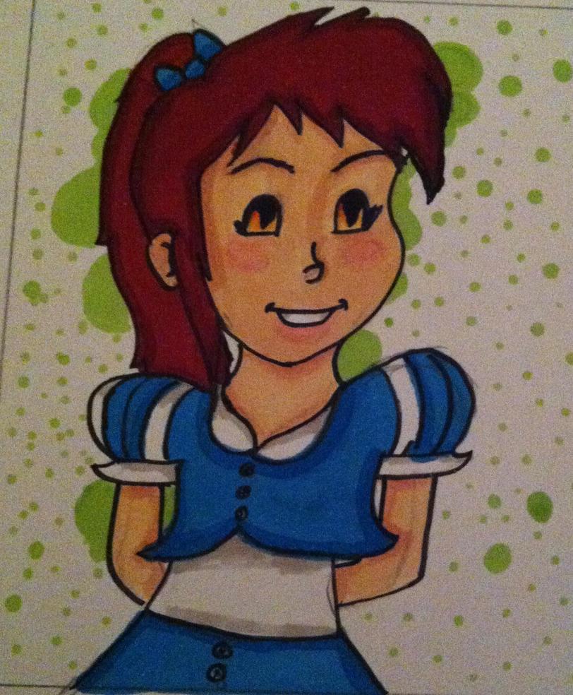 My Second Sketch Card by XBlueLadyBugX