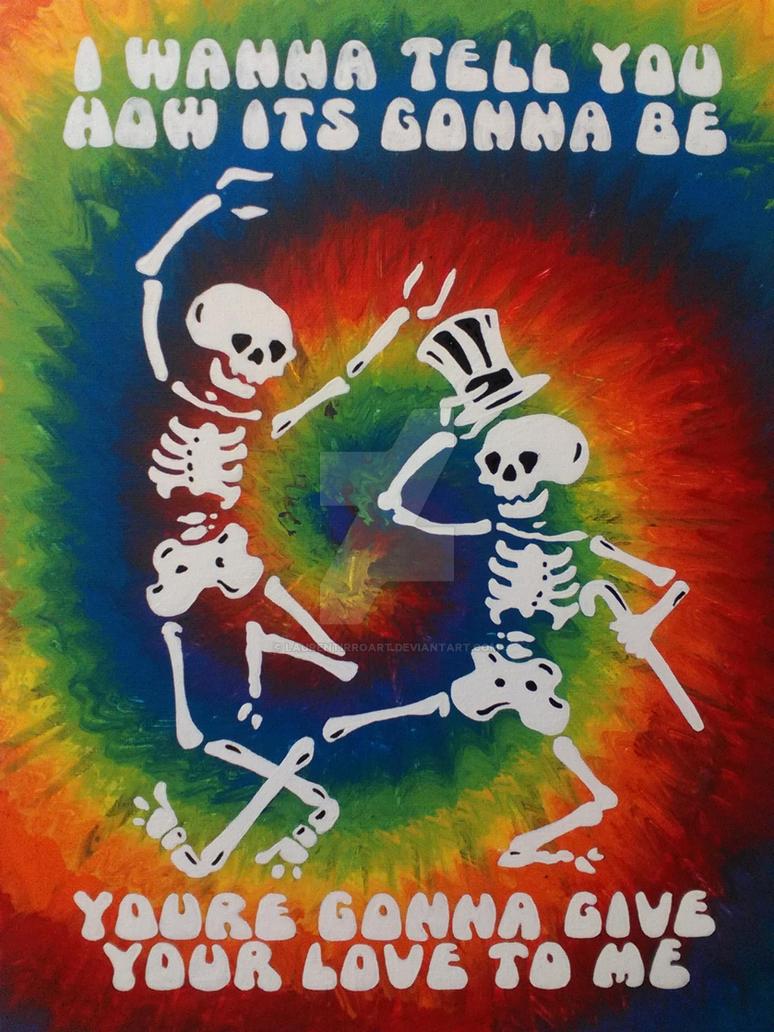 Grateful Dead skeletons by LaurenTirroArt