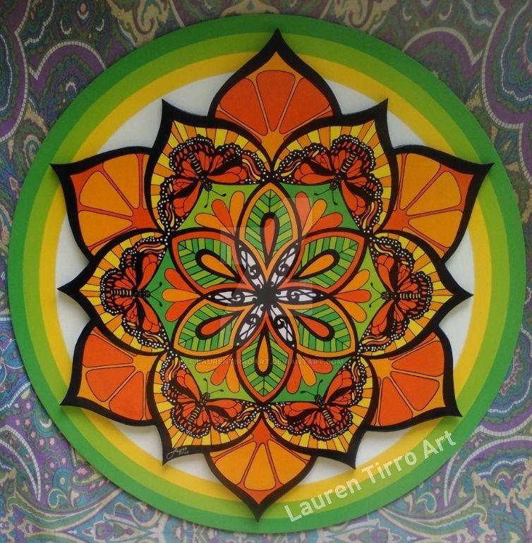 Grateful Dead Mandala by LaurenTirroArt