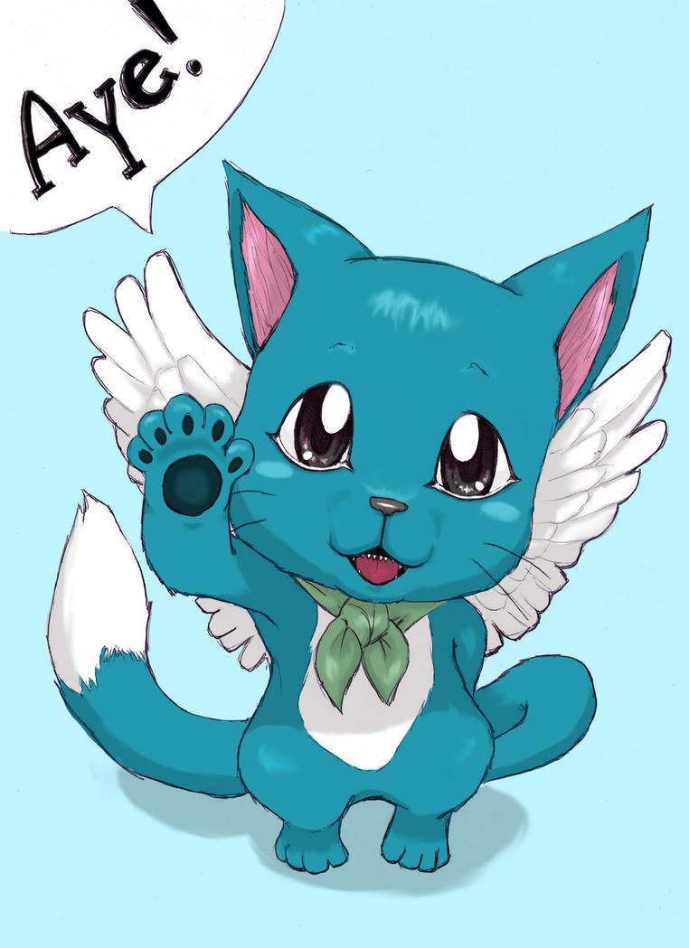 Happy - Fairy Tail by Sunkanimy on DeviantArt  Happy Fairy Tail Cute