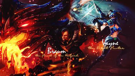 Dragonslayer Braum and Vayne - Wallpaper by KashiRose