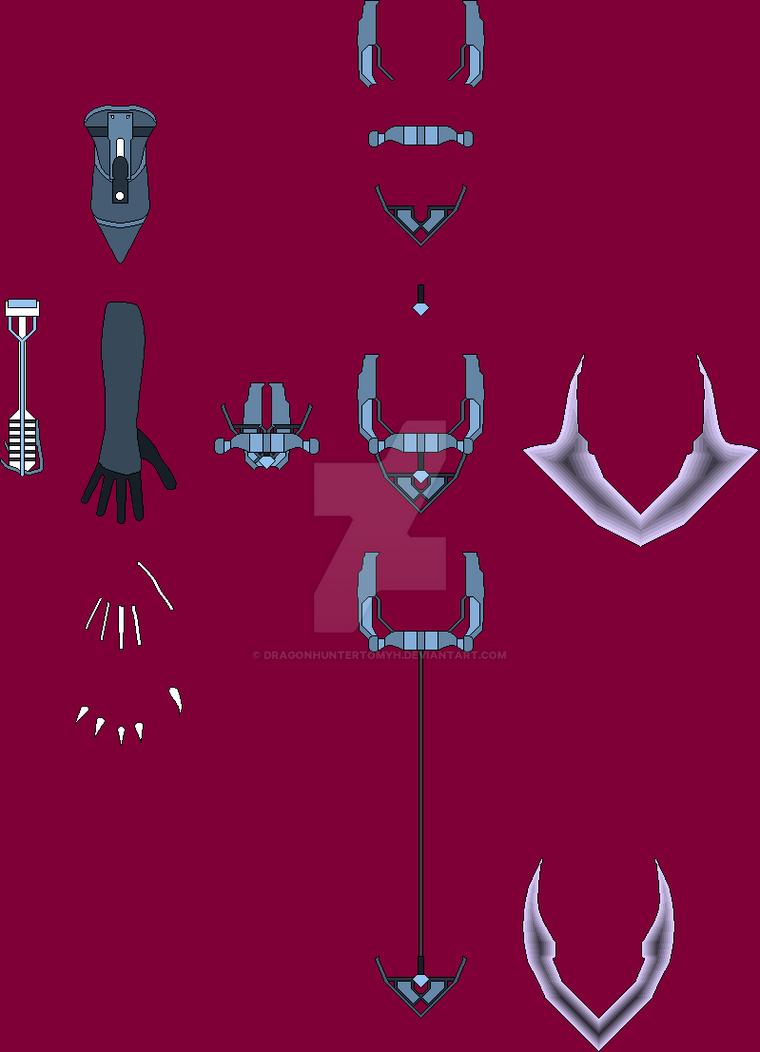 Commission Clawed Gauntlet and Katar Dagger Layout by DragonhunterTomyh