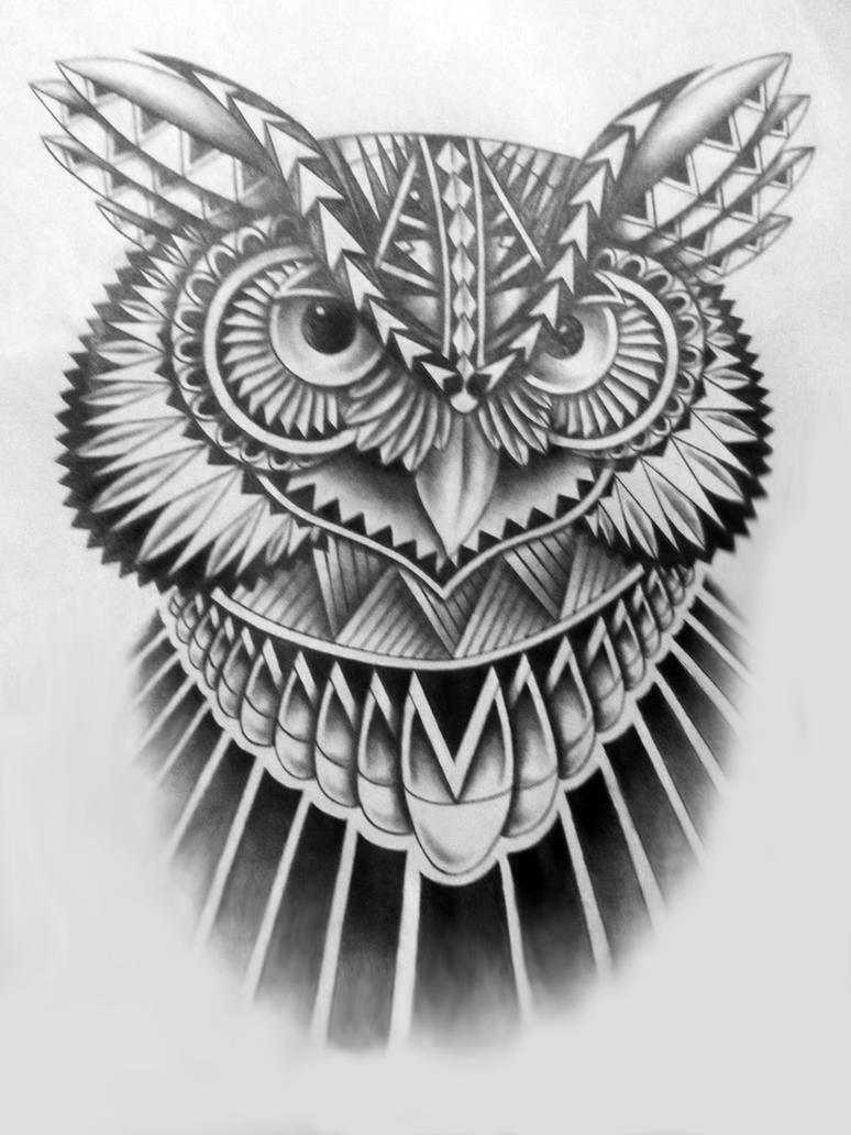 Tribal Owl By Jinx2304 On Deviantart