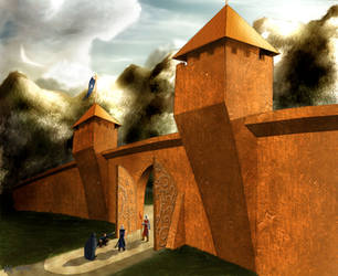 The Gates of Gondolin part III by danthalion