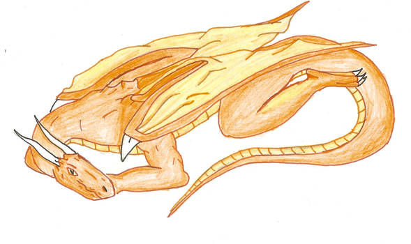 Dragon laying colored