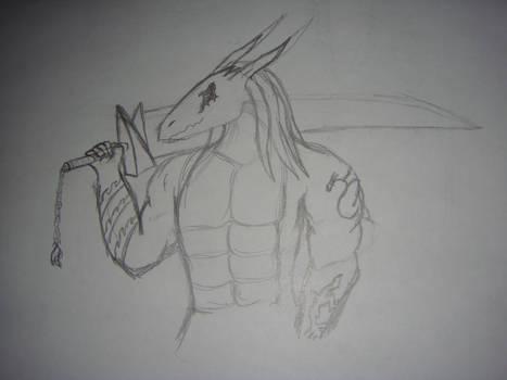 Nexaius with a Sword +sketch+