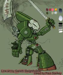 RoboBunnie, my first digital paint.