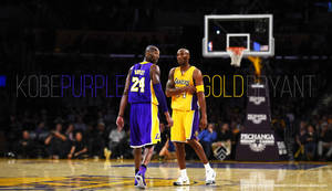 Kobe Bryant Purple and Gold by Wnine