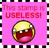 USELESS stamp by samsmash44