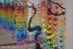 Origami crane bonsai