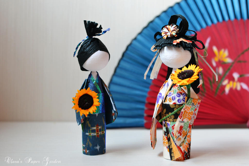 Japanese paper dolls by cridiana