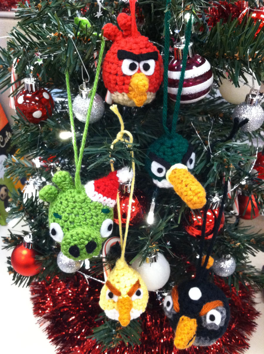 Amigurumi Christmas Decorations : Amigurumi Angry Birds Christmas Ornaments by NerdStitch on ...