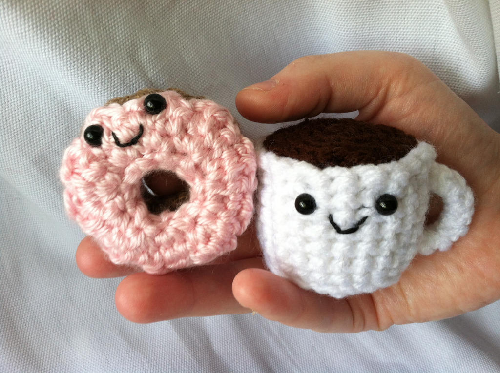 Amigurumi Donut : Amigurumi Coffee and Donut by NerdStitch on DeviantArt