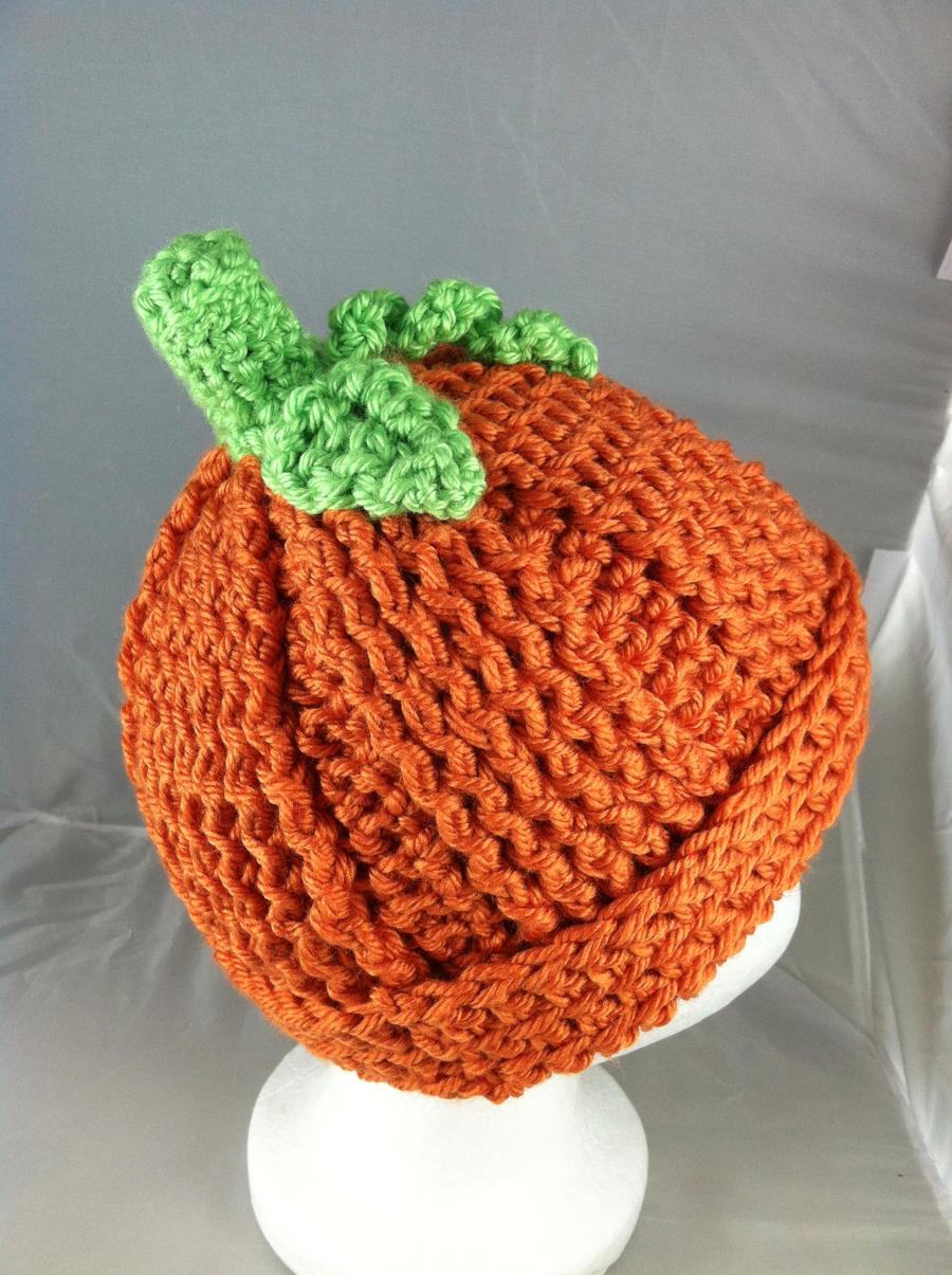 Crochet Baby Pumpkin Hat by NerdStitch