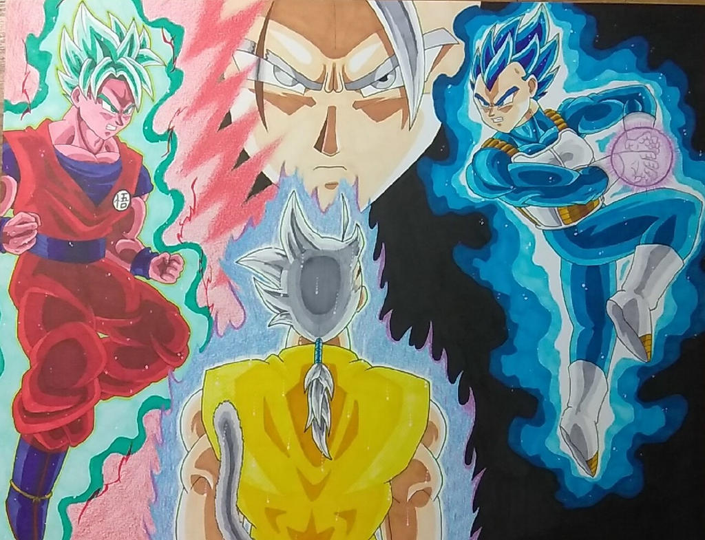 Goku and Vegeta vs Vertigo by ShadowDragon6114