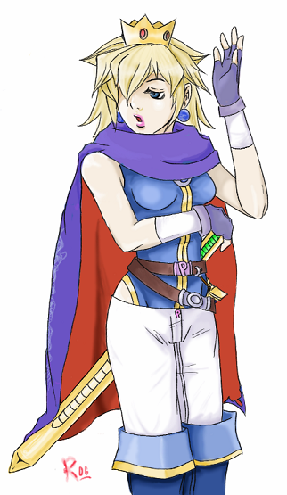 Peachy Hero- Peach as Roy XD by RockStarRoku
