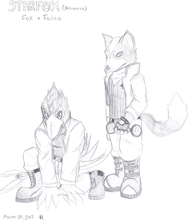 StarFox Alliance Fox 'n Falco by RockStarRoku