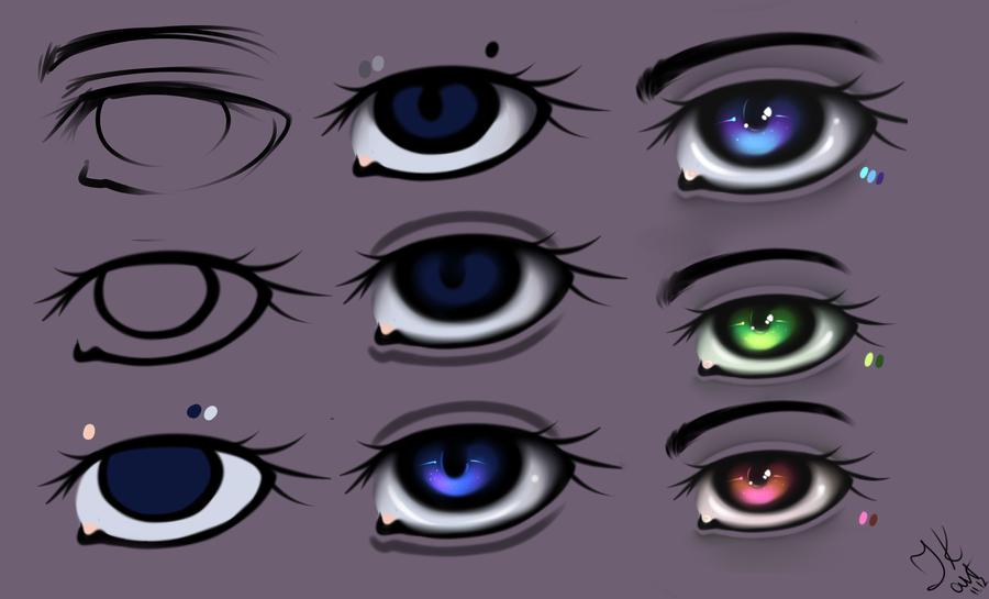 Eyes - Tutorial by julcha97