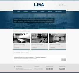 Layout desenvolvido para a LGA Advogados by renanteles