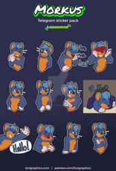 Sticker pack for Morkus