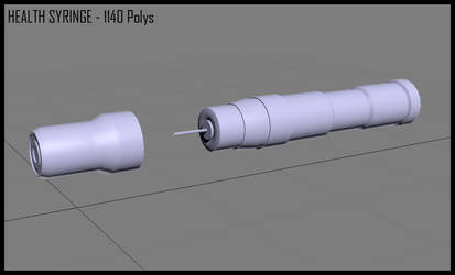 3DS WIP - Medical Syringe by Hiroplex